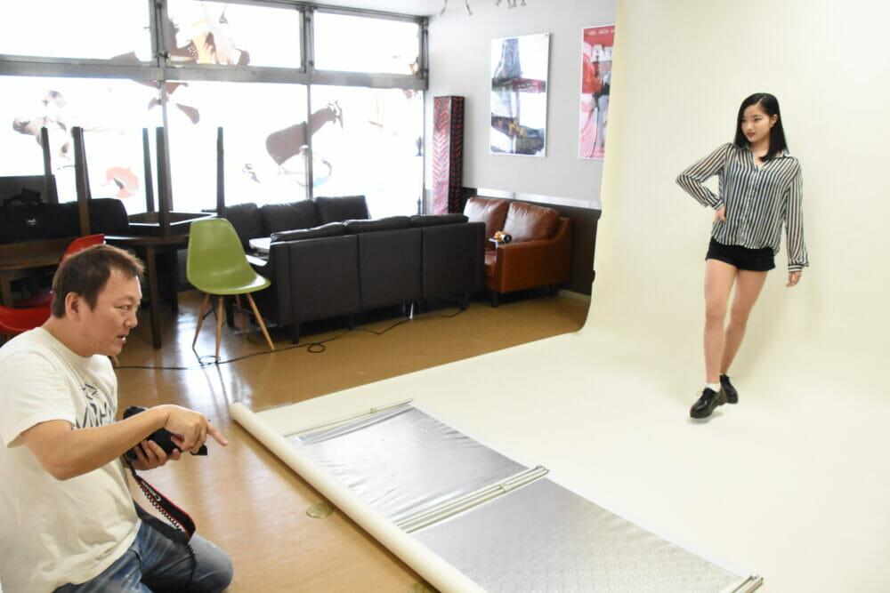 モデル撮影,ダンス&芸能専門学校